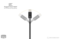 Scosche strikeLINE™ II Ladekabel, 1m, sort, Apple Lightning