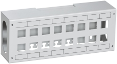 Actassi Patchbox 16xRJ45 250x100x60 mm Lysegrå