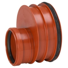 Uponor Double/Rib2/IQ 315 x 160 mm PP-red. m/gummiring t/gl.