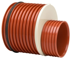 Uponor Double/Rib2 400 x 315 mm PP-reduktion med gummiring