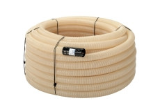 Uponor 92/80 mm PVC-drænrør med 1,2 x 6,5 mm slids, 60 m, hv