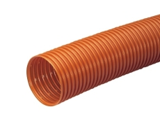 Wavin 160/145 mm PVC-drænrør med 1,5 x 5 mm slids, 50 m, bru