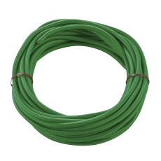 PVC line with fabric sheat, 3-pole, 10m, green