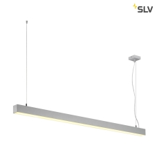 Q-LINE DALI SINGLE LED, pendel , dæmpbar, 1500mm, sølv