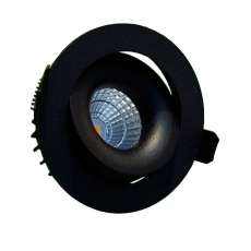 Downlight Moon LED 6W 830, 36°, med kip, sort m/dæmpbar driv