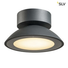 Loftlampe Malu, LED 9,2W 3000K, 360 lumen, antracit, IP44