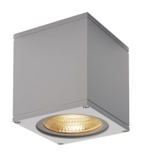 Loftlampe Big Theo, LED 21W 3000K, 2000 lumen, alu-grå, IP44