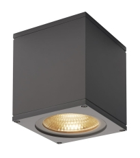 Loftlampe Big Theo, LED 21W 3000K, 2000 lumen, antracit, IP4