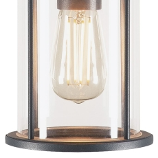 Loftlampe Photonia, E27, antracit, klart glas, IP44