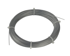 Steel cable, 0,75mm with PVC sheating, 100m ring, galvanised