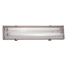 Polyesterarmatur Works LED 2x9W 1400 lumen, grå, L660 mm, IP
