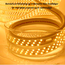LED strip 230V 9W 3000K, 50M, 17x7 mm, IP67