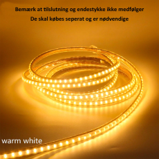 LED strip 230V 7,5W grøn, 15x7 mm, 50M, IP67