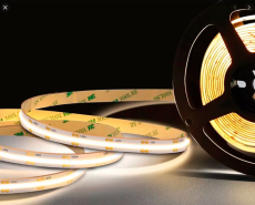 LED Strip 24V DC 10W COB 2700K RA90, 5M, IP20