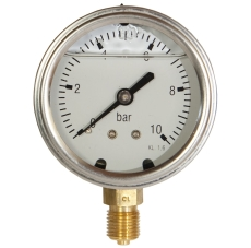 "1/4"" x 63 mm Manometer 10 bar glycerin"