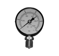 "1/2"" x 80 mm Manometer 1 bar/10VS"