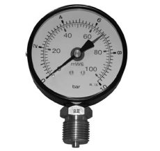 "1/2"" x 80 mm Manometer 25 bar"