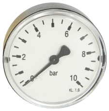"1/4"" x 63 mm Manometer bagud 10 bar"