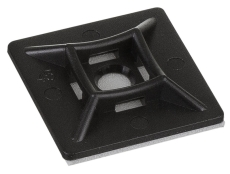 Kabelbinder holder 19 x 19 mm, sort (100)