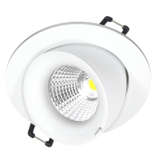 Downlight Velia Large Tilt LED 10,9W 2700K, 230V rund, hvid