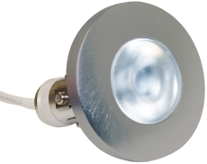 Downlight Viola 350mA 2W LED 827 børstet rustfrit stål 316