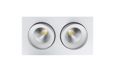 Downlight Junistar LED 2x6W 2700K, Dali, hvid
