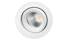 Downlight Junistar Lux 7W 2700K, 540 lumen, hvid