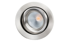 Downlight Junistar Lux 7W 2700K, 540 lumen, børstet stål