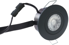 Downlight Low Profile Flexible LED 6W 2700K Ø87 sort