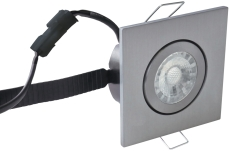 Downlight Low Profile Flexible LED 6W 3000K 87x87 børst. alu