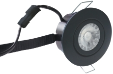 Downlight Low Profile Flexible LED 6W 3000K Ø87 sort
