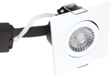 Downlight Low Profile Deluxe LED 6W 827 GU5,3, firkantet, hv