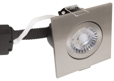 Downlight Low Profile Deluxe LED 6W 827 GU5,3, firk., børst.