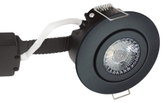 Downlight Low Profile Deluxe LED 6W 827 GU5,3, rund, sort