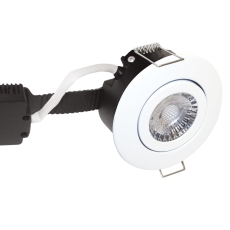 Downlight Low Profile Deluxe LED 6W 830 GU5,3, rund, hvid