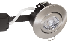 Downlight Low Profile Deluxe LED 6W 840 GU5,3, rund, børstet