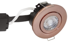Downlight Low Profile Deluxe LED 6W 840 GU5,3, rund, kobber
