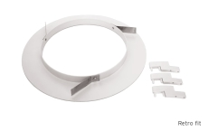 Rax 200 Retrofit Ring for Ø200-280 mm, hvid