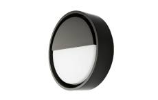 Væg Frame Round Wall LED 7W 3000K, sort