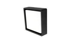 Væg-/Loft Frame Square LED 6W 3000K, 500 lumen, sort, IP65