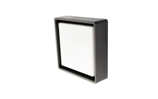 Væg-/Loft Frame Square LED 6W 3000K, 500 lumen, grafit, IP65