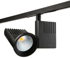 Zip Pro Spot LED 15-36W 930, 3000K 40G sort (1-faset)