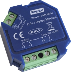 Box Relay Dali LED 0-300W / Halogen 0-1000W, On/Off relæ NO