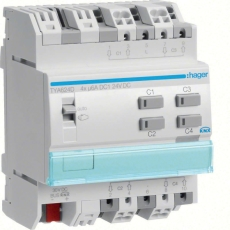 Hager KNX Persiennemodul 24VDC 6A 4M TYA624D