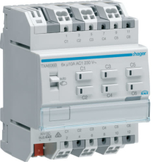 KNX afbryder/persienne easy 6x10a relæudgang, 3 x persienne
