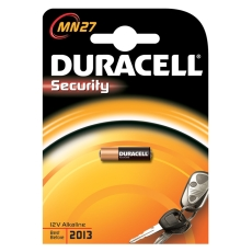 Duracell batteri, SECURITY MN27, 12 V Alkaline, 1 stk.