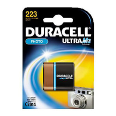 Duracell lithium batteri, PHOTO ULTRA, M3, 223, CR-P2, 1 stk