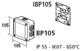 Dåsebeslag for IBP 105 x 105