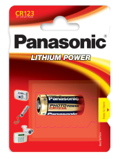 Panasonic CR123 batteri, 1 stk.