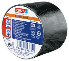 PVC-isoleringstape 50 mm x 25 m, sort